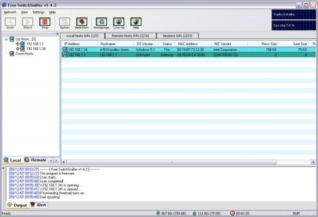 برنامج SwitchSniffer 1.4.2 سحب وتقسيم سرعة النت